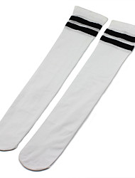 cheap -4 Pairs Women's Socks Striped Leg Shaping Sweet Style Spandex In-tube EU36-EU42
