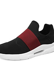 お買い得  -男性用 靴 チュール ネット 夏 ライト付きソール コンフォートシューズ スニーカー ウォーキング ランニング のために カジュアル アウトドア ブラック グレー ブラック / レッド