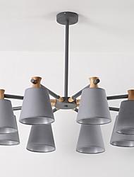abordables -JLYLITE 8 lumières Lustre Lumière dirigée vers le bas - Style mini, 110-120V / 220-240V Ampoule non incluse / 40-50㎡ / FCC / VDE
