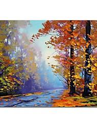 abordables -Pintura al óleo pintada a colgar Pintada a mano - Abstracto Contemporáneo Modern Lona
