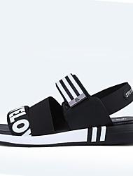 cheap -Men's Shoes Fabric Summer Comfort Sandals Black