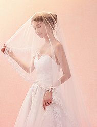 cheap -One-tier Classic & Timeless Chic & Modern Wedding Veil Cathedral Veils 53 Embroidery Tulle