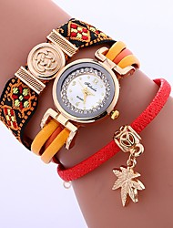 baratos -Mulheres Quartzo Relógio de Moda Chinês imitação de diamante PU Banda Casual Fashion Preta Azul Vermelho Marrom Rosa Roxa