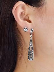 cheap -Women's Drop Imitation Pearl Stud Earrings / Drop Earrings - Casual / Fashion Black Circle Earrings For Daily / Date