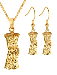 cheap -Women's Jewelry Set - Fashion Include Hoop Earrings / Pendant Necklace Gold For Daily