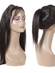 Недорогие -Guanyuwigs Жен. Прямой 360 Лобовой Бразильские волосы Швейцарское кружево Remy Мягкость Шелковистость Для вечеринок На каждый день