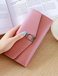 baratos -Mulheres Bolsas PU Carteiras Botões Rosa / Cinzento / Roxo Claro