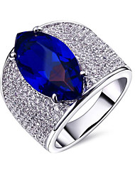 cheap -Women's Cubic Zirconia Couple Rings - Gold Plated European 6 / 7 / 8 Silver / Green / Blue For Party / Gift