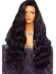 cheap -Virgin Human Hair Full Lace Wig Brazilian Hair / Body Wave Wavy Wig Layered Haircut 180% With Baby Hair / For Black Women Black Women's Short / Long / Mid Length Human Hair Lace Wig