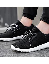 billige -Herre Sko Tyl Forår Efterår Komfort Sneakers for Afslappet udendørs Hvid Sort Mørkegrå