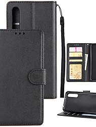 economico -Custodia Per Huawei P20 lite P20 Pro Porta-carte di credito A portafoglio Resistente agli urti Con chiusura magnetica Integrale Tinta