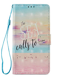 cheap -Case For Huawei Mate 10 lite Mate 10 pro Card Holder with Stand Flip Magnetic Pattern Full Body Cases Word / Phrase Scenery Hard PU