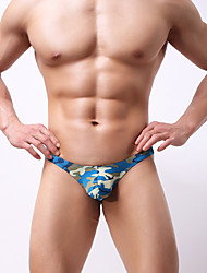 cheap -Men's G-string Underwear Camouflage Low Rise