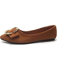 abordables -Femme Chaussures Polyuréthane Printemps Automne Confort Oxfords Talon Plat pour De plein air Noir Marron Kaki