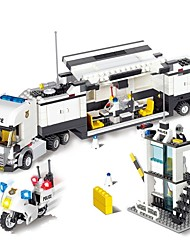 abordables -City Street Police Station Car Truck Blocs de Construction 511pcs Exquis / Vue de la ville Cadeau