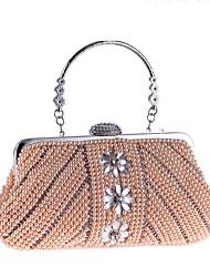 povoljno -Žene Torbe ABS + PC Večernja torbica Biserni detalji za Vjenčanje Zabave Sva doba Šampanjac Obala