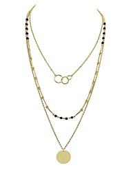 Недорогие -Жен. Имитация турмалина Слоистые ожерелья - Простой На каждый день Круглый Ожерелье Назначение Вечеринка / ужин Школа