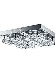 cheap -4-Light Flush Mount Ambient Light - Crystal, LED, 85-265V, White, LED Light Source Included / 10-15㎡ / LED Integrated
