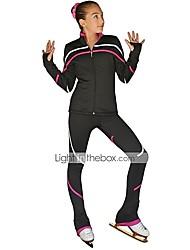 baratos -Jaqueta e Calça para Patinação Artística Mulheres Patinação no Gelo Jaqueta / Calças Roxo / Vermelho Rosa / Azul Céu Elastano Com Stretch Treino / Profissional / Concorrência Roupa para Patinação
