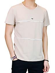 preiswerte -Herrn Solide Gestreift - Aktiv Street Schick T-shirt