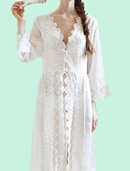 cheap -Women's Cover-Up - Solid Colored Lace / Maxi / V Neck / Deep V / Summer