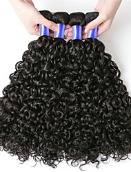 cheap -6 Bundles Peruvian Hair Kinky Curly Virgin Human Hair Natural Color Hair Weaves 8-28 inch Human Hair Weaves Soft / Hot Sale / Fashion Natural Color Human Hair Extensions Women's