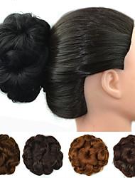 Недорогие -Цветы Булочка для волос Sexy Lady Кулиска Искусственные волосы Волосы Наращивание волос Цветы Темно-рыжий / Темно-коричневый / темно-рыжий / Темно-коричневый / Medium Auburn