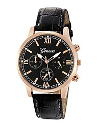 cheap -Men's Dress Watch Chinese Chronograph PU Band Fashion Black / Brown