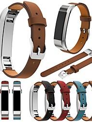 Недорогие -Ремешок для часов для Fitbit Alta Fitbit Классическая застежка Натуральная кожа Повязка на запястье
