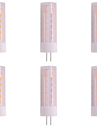 cheap -6pcs 3W 200-230lm G4 LED Bi-pin Lights T 36 LED Beads SMD 2835 Flame Flickering Change 12V
