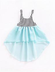 Недорогие -Дети (1-4 лет) Девочки Уличный стиль Контрастных цветов Без рукавов Платье