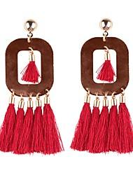 cheap -Women's Tassel / Long Drop Earrings - Tassel, European, Oversized Red / Green / Light Coffee For Daily / Street
