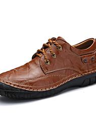 abordables -Homme Chaussures Cuir Cuir Nappa Printemps Automne Confort Basket Marche pour Décontracté Noir Marron