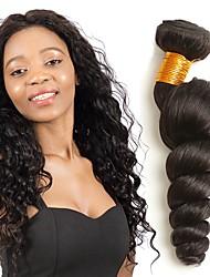Недорогие -4 Связки Индийские волосы Волнистый Натуральные волосы Накладки из натуральных волос Естественный цвет Ткет человеческих волос Удлинитель / Горячая распродажа Расширения человеческих волос Все