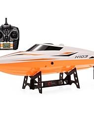 baratos -Barco Com CR H105 (H103) ABS 4pcs Canais 28-30km/h KM / H