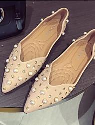 povoljno -Žene Cipele Koža Proljeće Jesen Udobne cipele Ravne cipele Ravna potpetica za Kauzalni Pink Badem