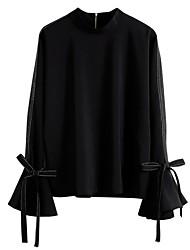 Недорогие -Жен. Бант Рубашка Деловые Уличный стиль Контрастных цветов