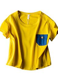 povoljno -dječakova solidna boja, pamučno ljeto žuto crveno