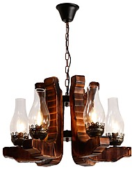 cheap -JLYLITE 6-Light Industrial Chandelier Uplight - Mini Style, 110-120V / 220-240V Bulb Not Included / 30-40㎡ / E12 / E14 / FCC / VDE