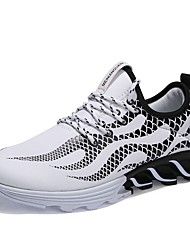 cheap -Men's Light Soles Customized Materials Spring &  Fall Comfort Sneakers White / Black