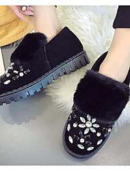 povoljno -Žene Cipele PU Zima Čizme za snijeg Čizme Ravna potpetica Čizme gležnjače / do gležnja za Kauzalni Crn Sive boje Zelen
