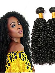 cheap -Indian Hair Curly Human Hair Extensions Human Hair Weaves Extention Natural Black All