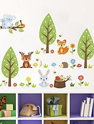 Недорогие -Наклейка на стену Декоративные наклейки на стены - Простые наклейки Пейзаж Животные Положение регулируется Съемная