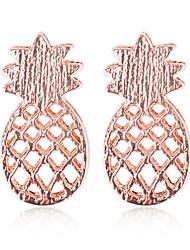 baratos -Mulheres Brincos Curtos - Ananás Simples Prata / Ouro Rose Para Diário / Rua