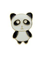 abordables -Broche - Panda Basique, Mode Broche Noir Pour Quotidien / Rendez-vous