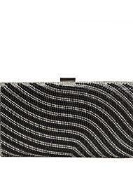 cheap -Women's Bags PU Leather Evening Bag Crystals / Pearls Gold / Black / Silver
