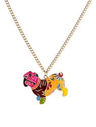 Недорогие -Муж. Собаки Ожерелья с подвесками  -  Животные Мультяшная тематика Милая Цвет радуги 65cm Ожерелье Назначение Для вечеринок Праздники