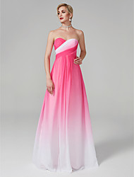 cheap -A-Line Sweetheart Neckline Floor Length Chiffon Formal Evening / Holiday Dress with Criss Cross by TS Couture®