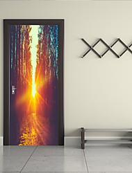 Недорогие -Наклейка на стену Декоративные наклейки на стены Напольные наклейки - Простые наклейки 3D наклейки Пейзаж Арабеска Положение регулируется
