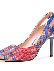 baratos -Mulheres Sapatos Micofibra Sintética PU Verão Outono Plataforma Básica Gladiador Saltos Salto Agulha para Festas & Noite Laranja Cinzento